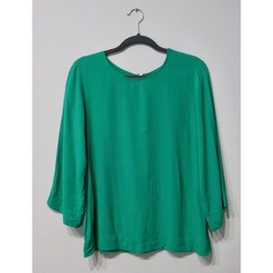 J Crew Green Flowy Blouse